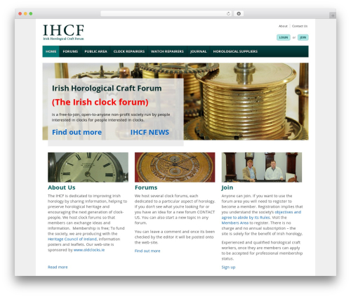 Responsive best WordPress template - ihcf.ie