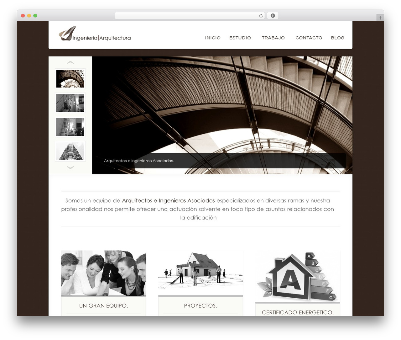 Acoustic top WordPress theme - ingenieria-arquitectura.com