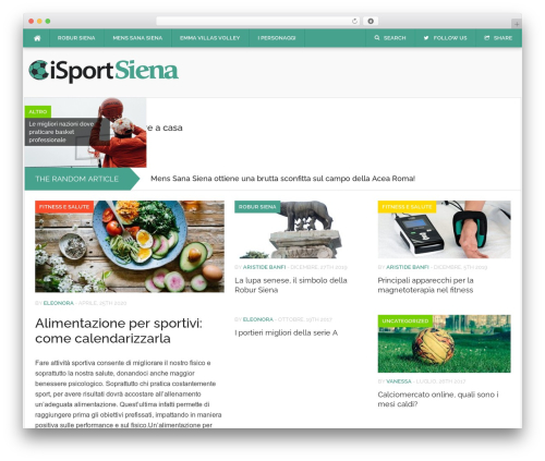 Codilight WordPress magazine theme - isportsiena.it