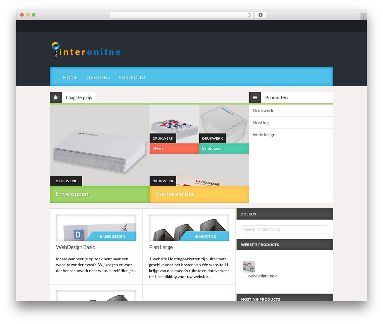 Reviewgine Affiliate free WordPress theme - interonline.nl