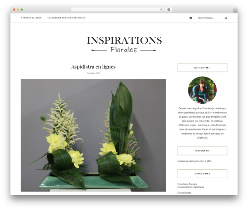 Rosemary WP theme - inspirations-florales.com