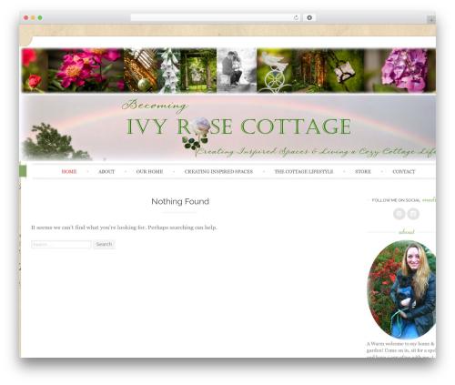 Sugar and Spice theme WordPress - ivyrosecottage.com