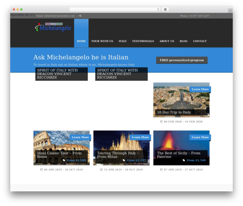 Tour Package WordPress theme - italytoursonline.com