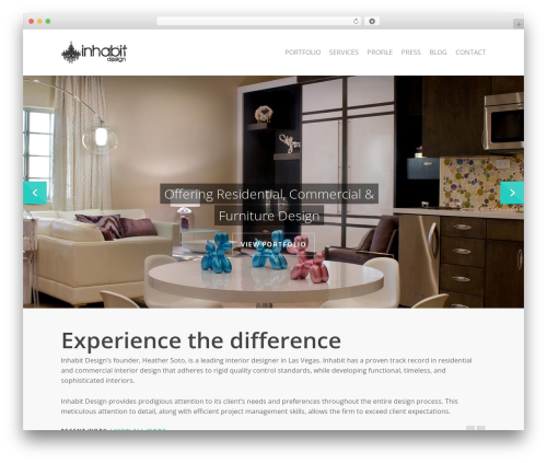 WordPress theme Salient - inhabitlv.com