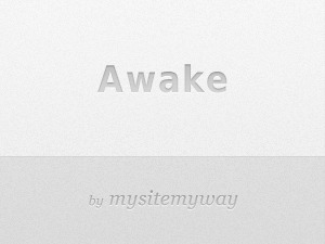 Awake WordPress page template