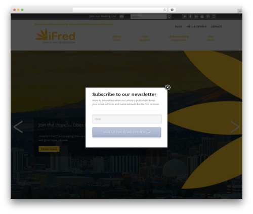 Free WordPress Email Subscription Popup plugin - ifred.org
