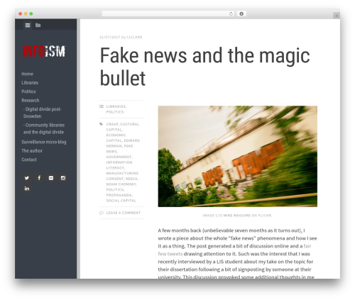 Editor best free WordPress theme - infoism.co.uk