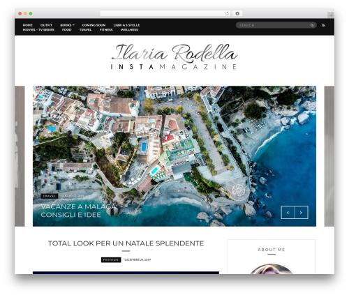 Ilaria Rodella best WordPress theme - ilariarodella.com
