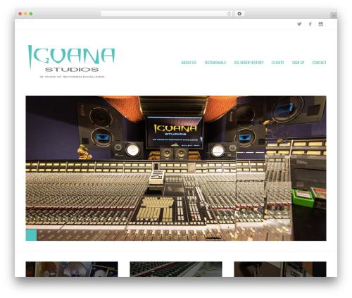 Metric WordPress theme - iguanarecording.com