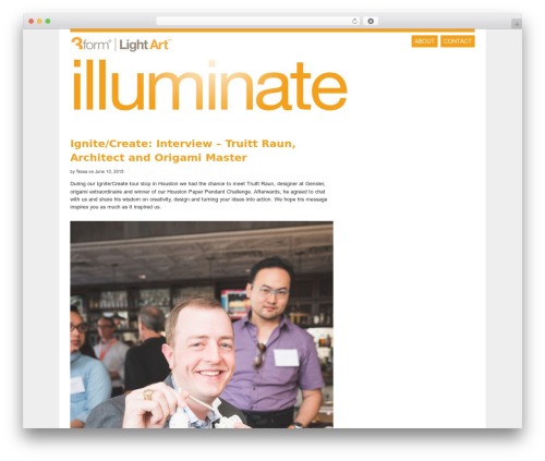 neni premium WordPress theme - illuminate.3-form.com
