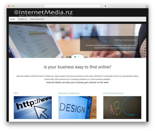 Tempera free website theme - internetmedia.nz
