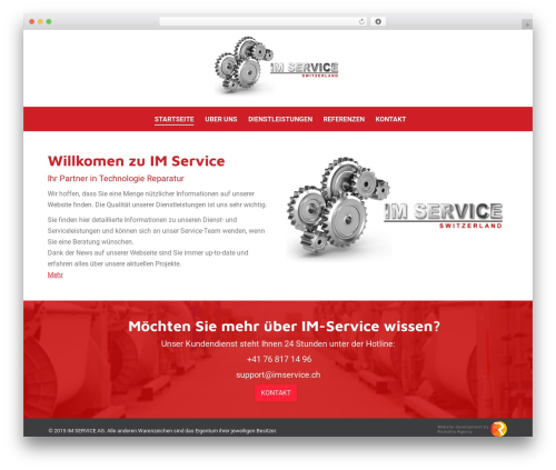 The7.2 WordPress theme - imservice.ch