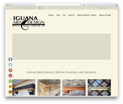 Theme WordPress Loft - iguanaartanddesign.com