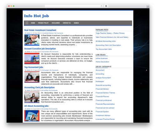 Theme WordPress NichePlus+.V301 - infohotjob.com