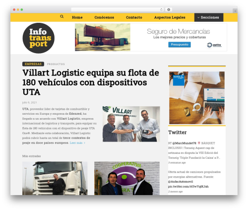 Themify Magazine best WordPress magazine theme - infotransport.es