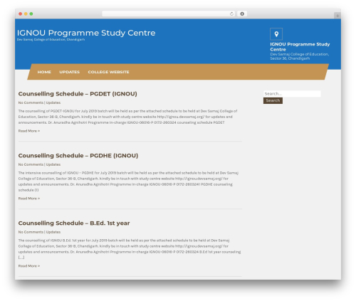 WordPress theme Carpenter Lite - ignou.devsamaj.org