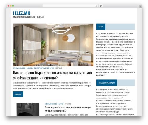 WordPress website template MH Newsdesk lite - izlez.mk/?lang=mk