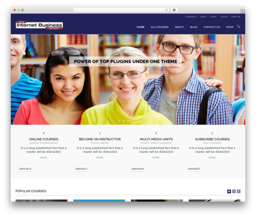 WPLMS business WordPress theme - internetbusinessschool.net