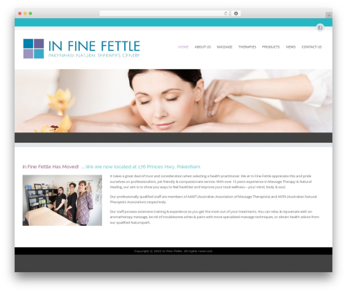 Circumference Lite free WP theme - infinefettle.com.au