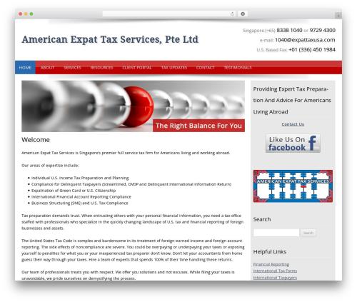 Customized WordPress template - aets.global