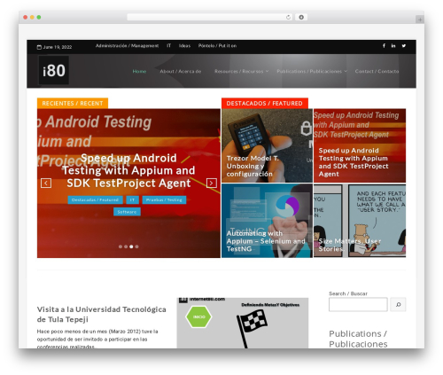 ElanzaLite WordPress template - internet80.com