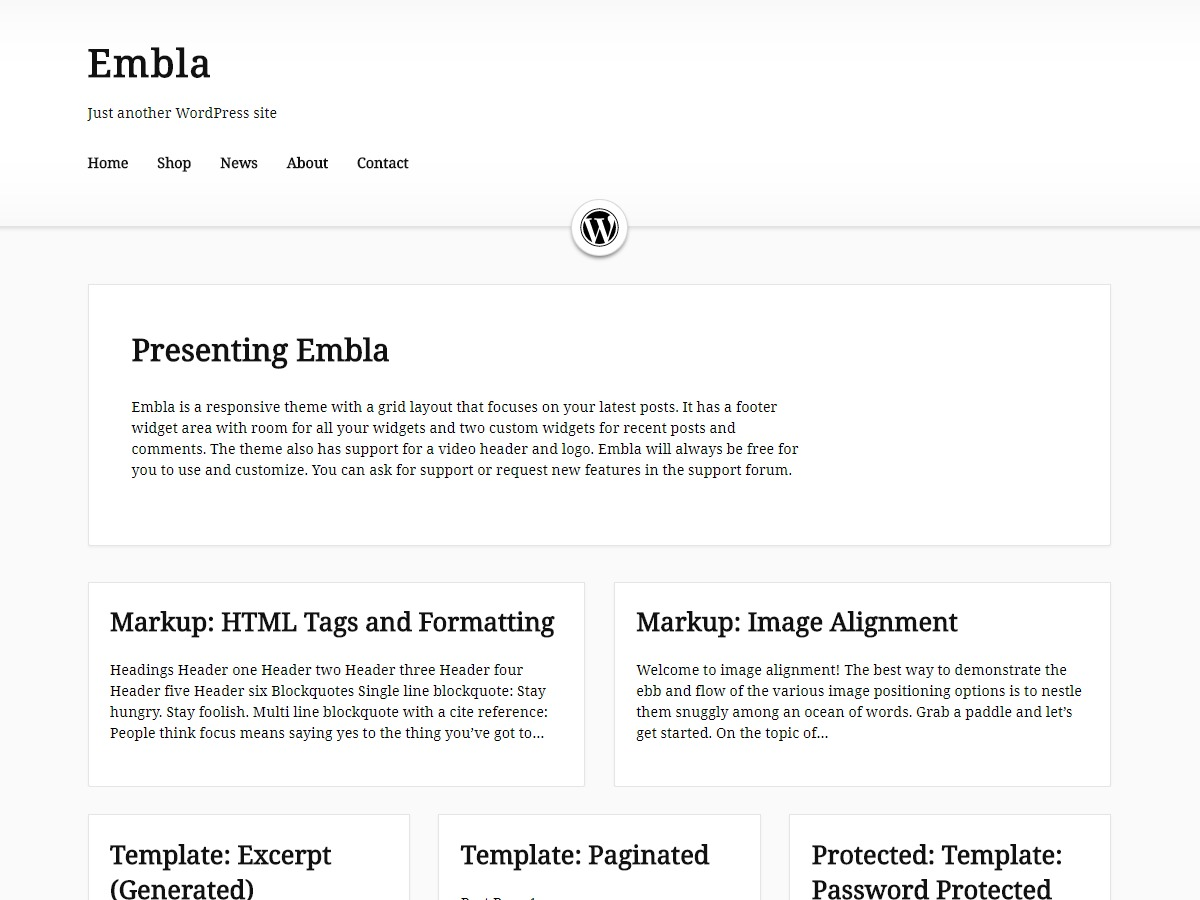 Embla WordPress movie theme