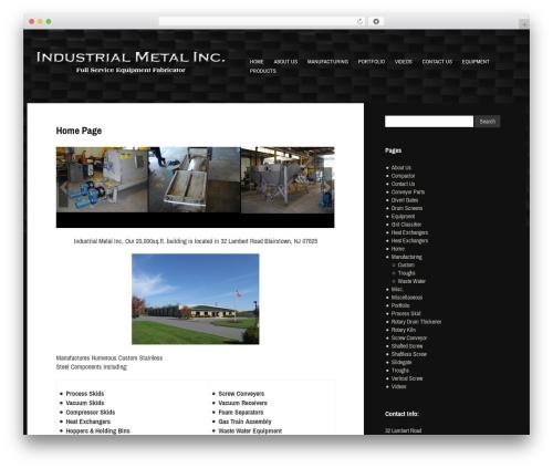 Gibson WP theme - industrialmetalinc.com