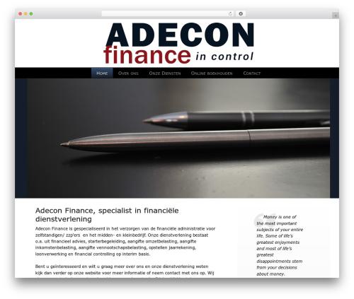 Lawyer WordPress page template - adeconfinance.nl
