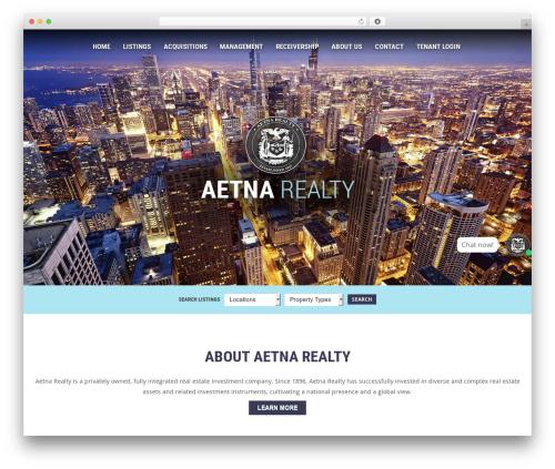 Responsive WordPress template for business - aetnarealty.com