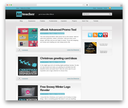 Theme WordPress Convergence - aeteacher.com
