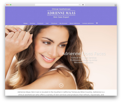 WordPress theme Divi - adriennedoesfaces.com