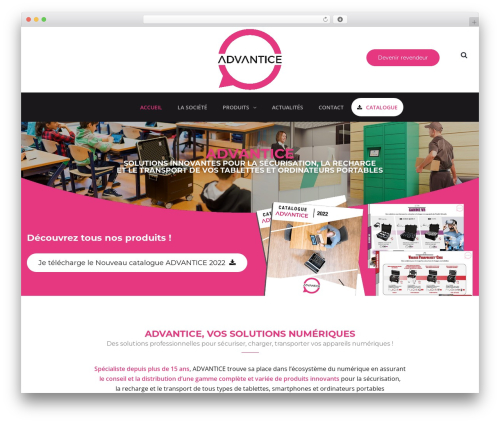 WordPress website template TheBuilt - advantice.fr