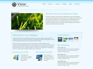WordPress website template Vivee Blue