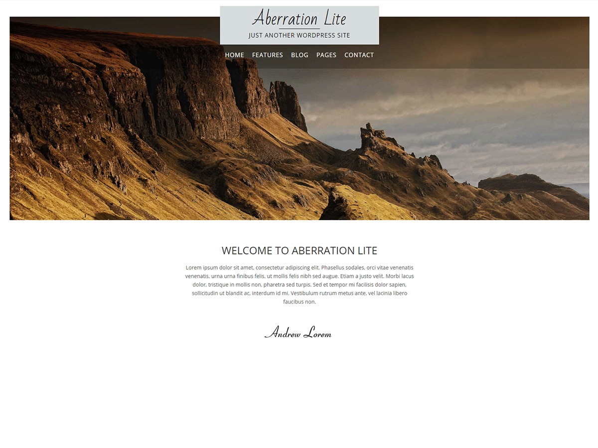 Aberration Lite WordPress template free