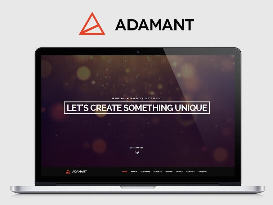 Adamant best WordPress template