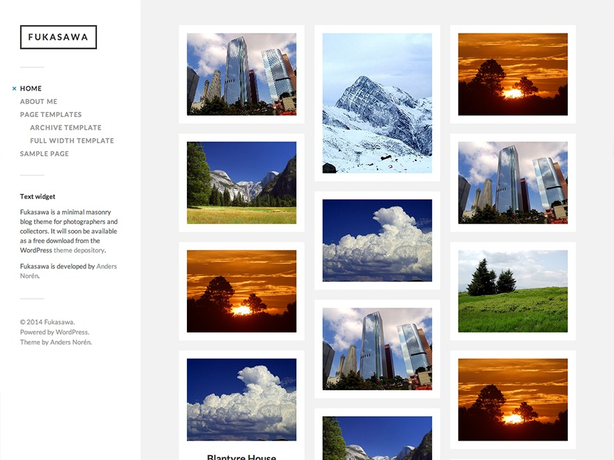 AdamChisholmPortfolio best portfolio WordPress theme