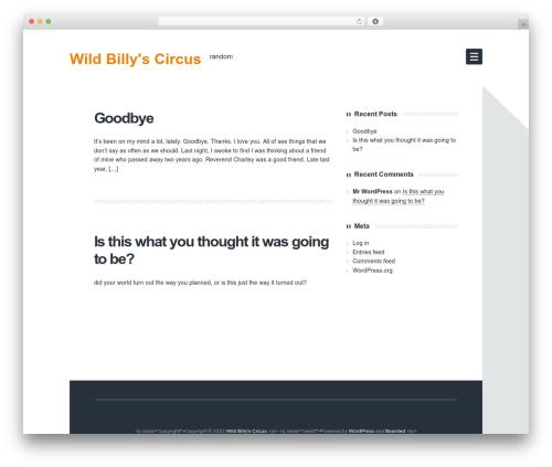 Bearded WordPress theme - wildbillyscircus.com