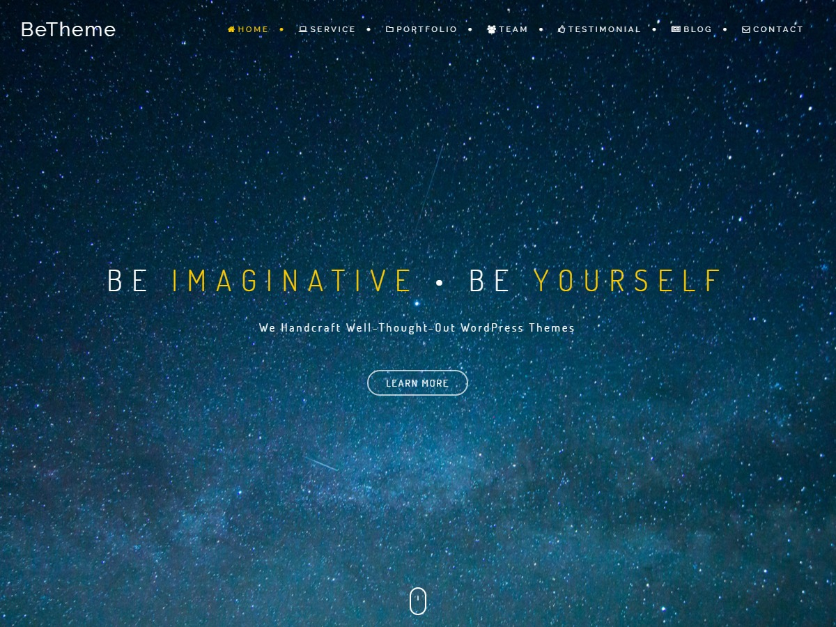BeOnePage Lite company WordPress theme
