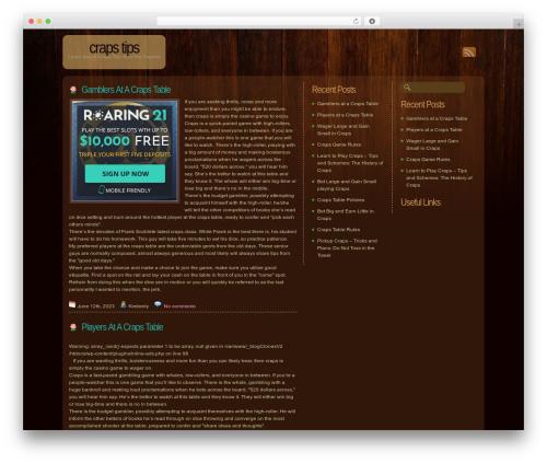 Best WordPress template Dark Wood - wannameetme.org
