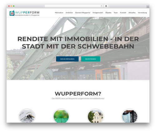 Best WordPress template Zerif PRO - wordpress.wupperform.de