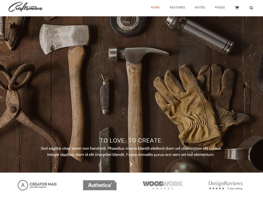 Best WordPress theme Craftsman