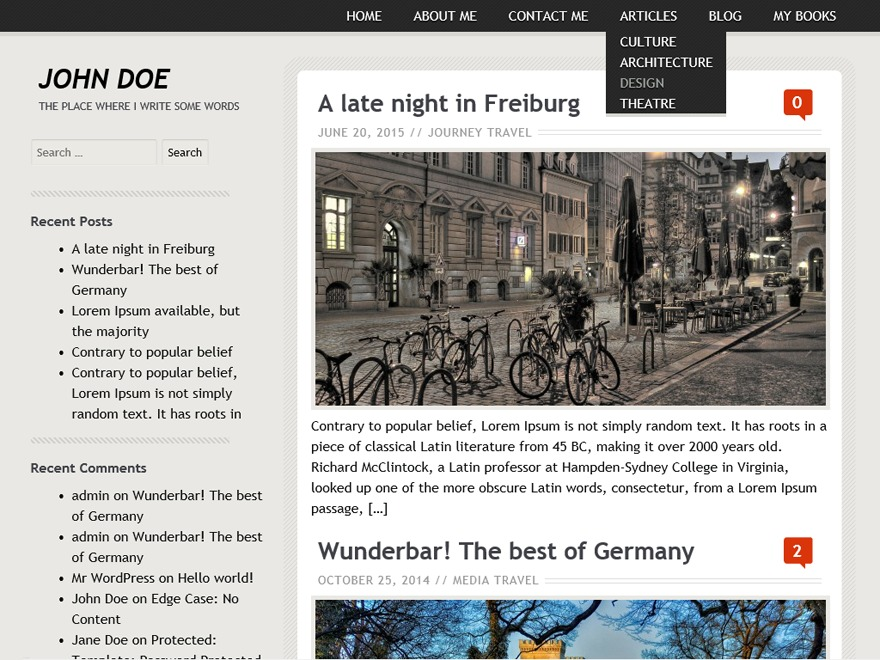 Birthday Gift WordPress news theme