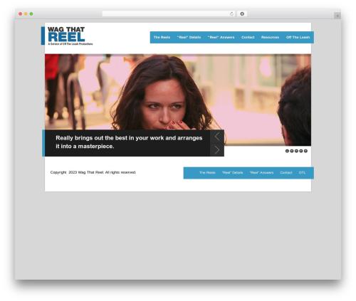 Breakout WordPress theme - wagthatreel.com