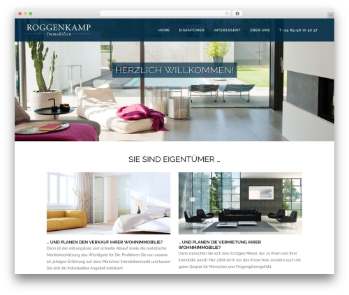 Bridge top WordPress theme - wp.roggenkamp-immobilien.de