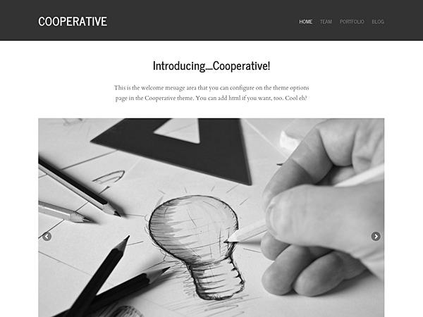 Cooperative WordPress portfolio theme