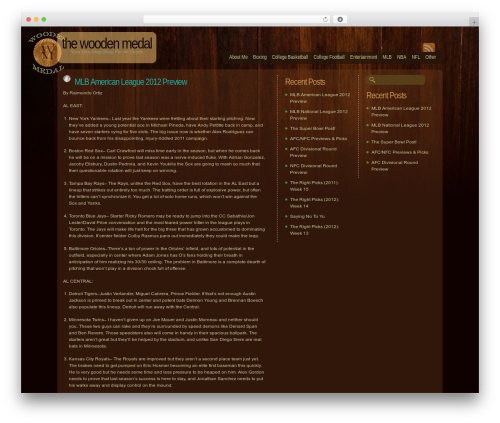 Dark Wood WP theme - woodenmedal.com