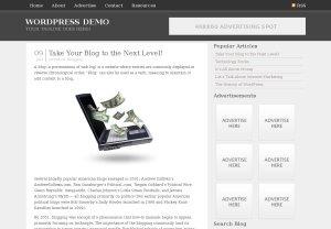 DarkZen WordPress blog template