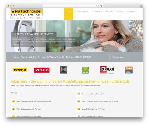 Dazzling premium WordPress theme - weru-fh.com