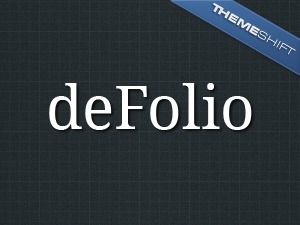 deFolio WordPress portfolio theme
