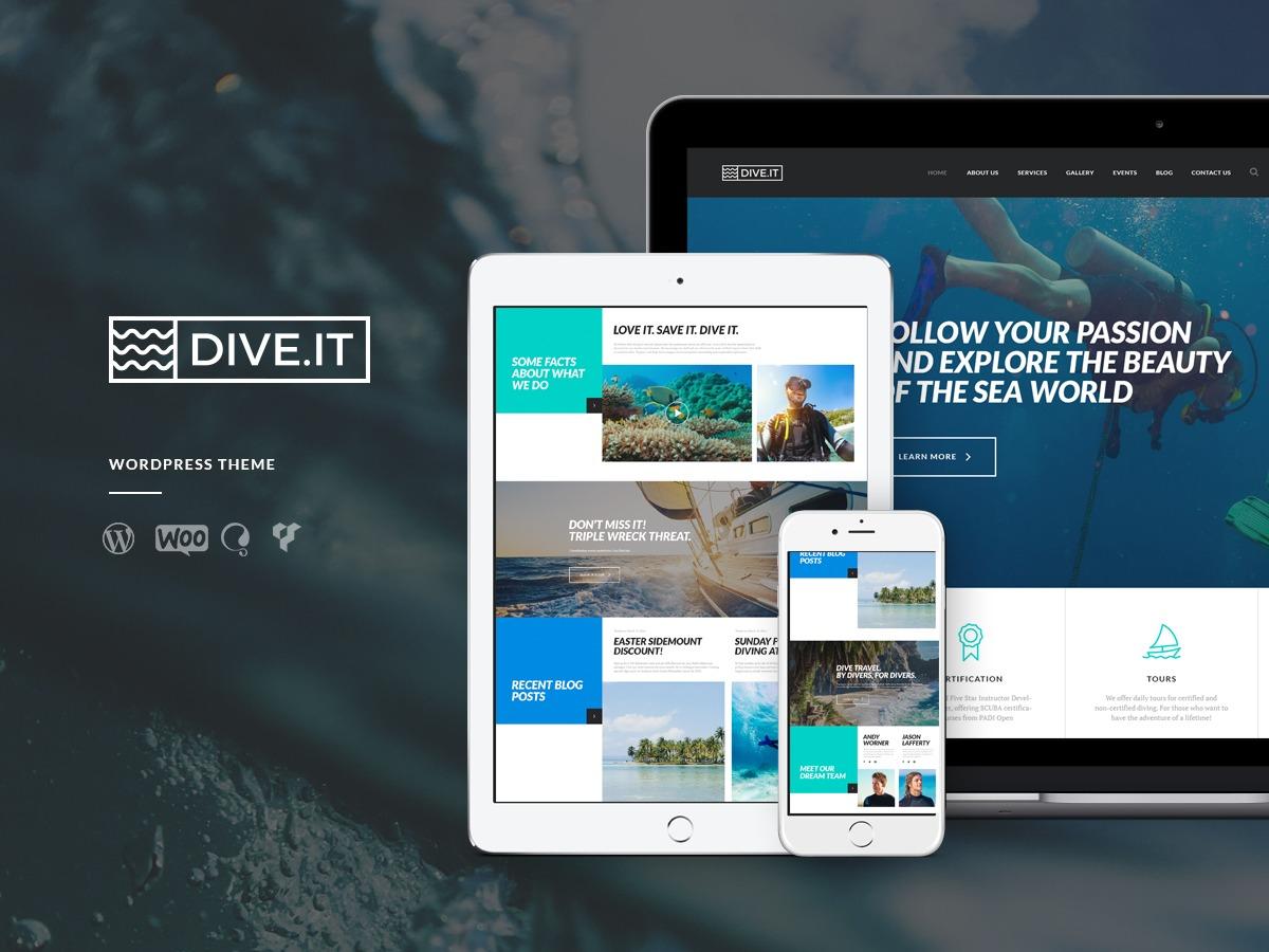 DiveIt best WordPress template
